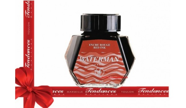 RECHARGE WATERMAN FLACON ENCRE ROUGE