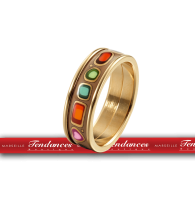 BIJOUX FREY WILLE -ODE TO JOY OF LIFE RED PASSION  BAGUE ULTRA  - JOY 412-6  ( diamètre 17 mm )