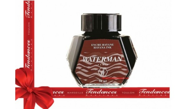RECHARGE WATERMAN FLACON ENCRE HAVANE