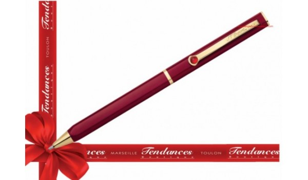 STYLO ST-DUPONT BILLE LAQUE LOTUS ROUGE- KARL LAGERFELD  Réf : 435670